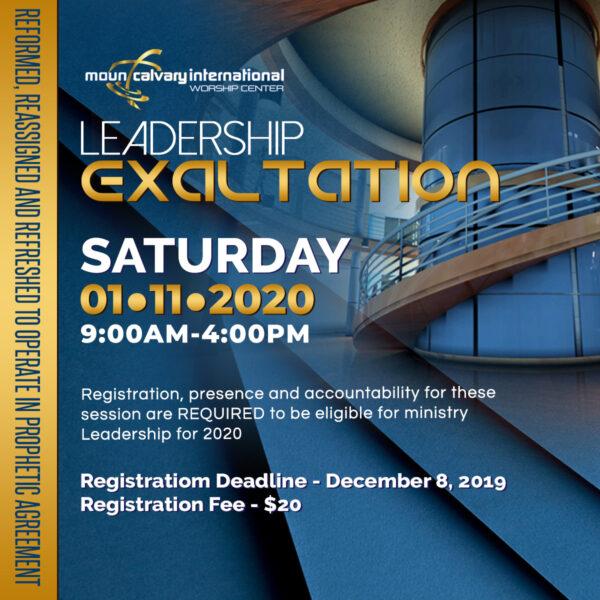 Leadership Exaltation 2019 2