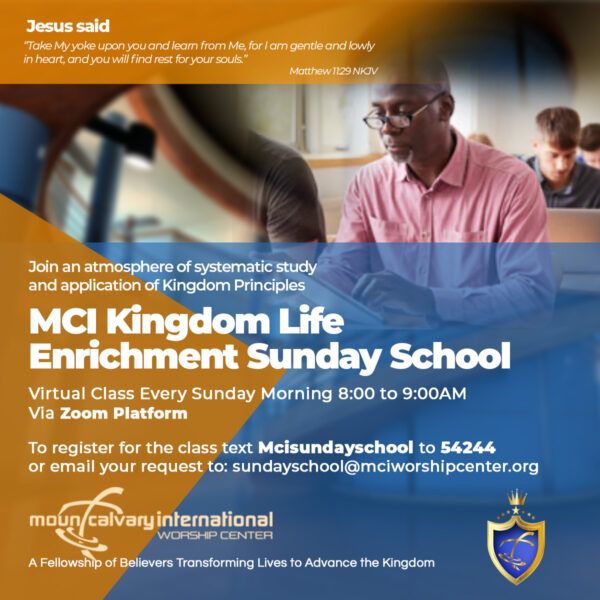 MCI Sunday School promo 2