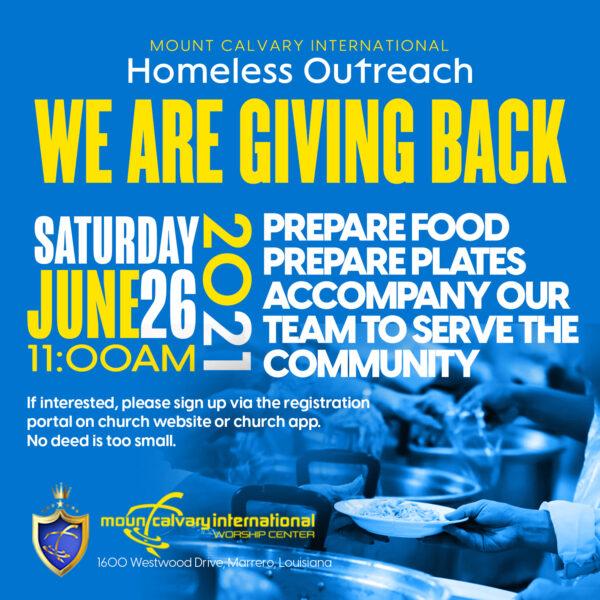 Homeless Outreach-June 2021