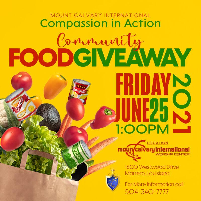 MC Food Giveaway-June 25